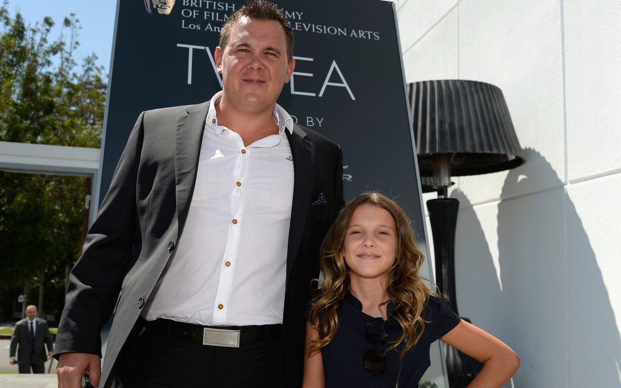 Robert Brown with his daughter Millie Bobby