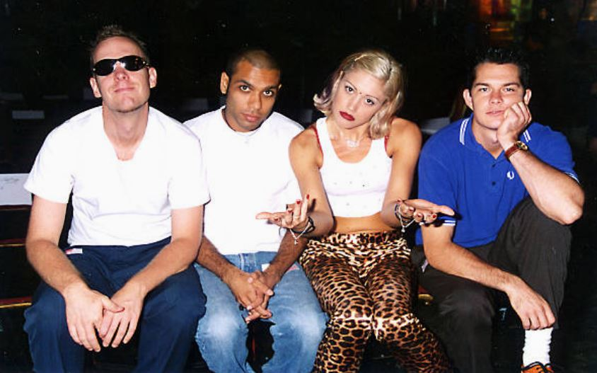 Gwen Stefani with her brother Eric Stefani on the right